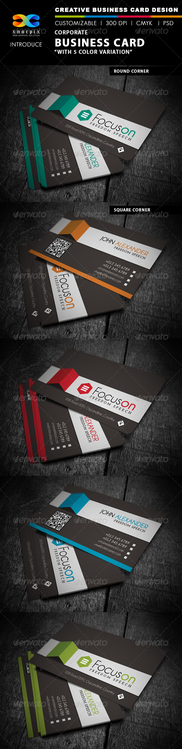 GraphicRiver Corporate Business Card 4265346