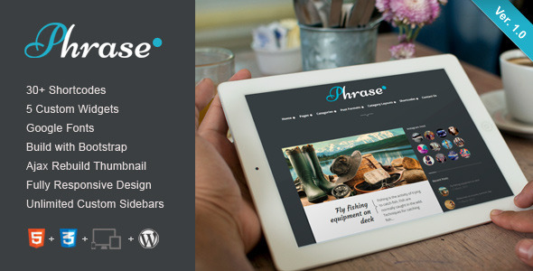 ThemeForest Phrase Responsive WordPress Blog Theme 4265568