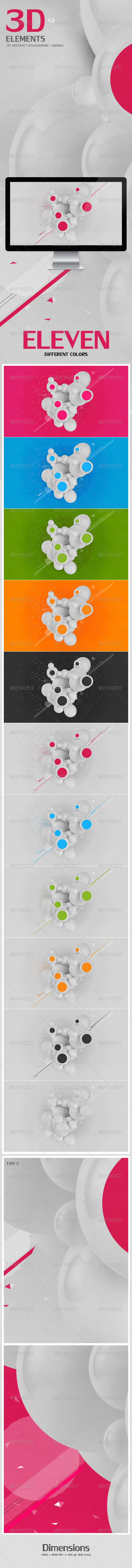 GraphicRiver 3D Abstract Background Grunge V2 4266248