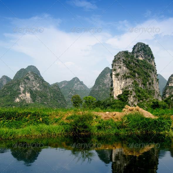 PhotoDune karst mountain landscape and reflection 4266588