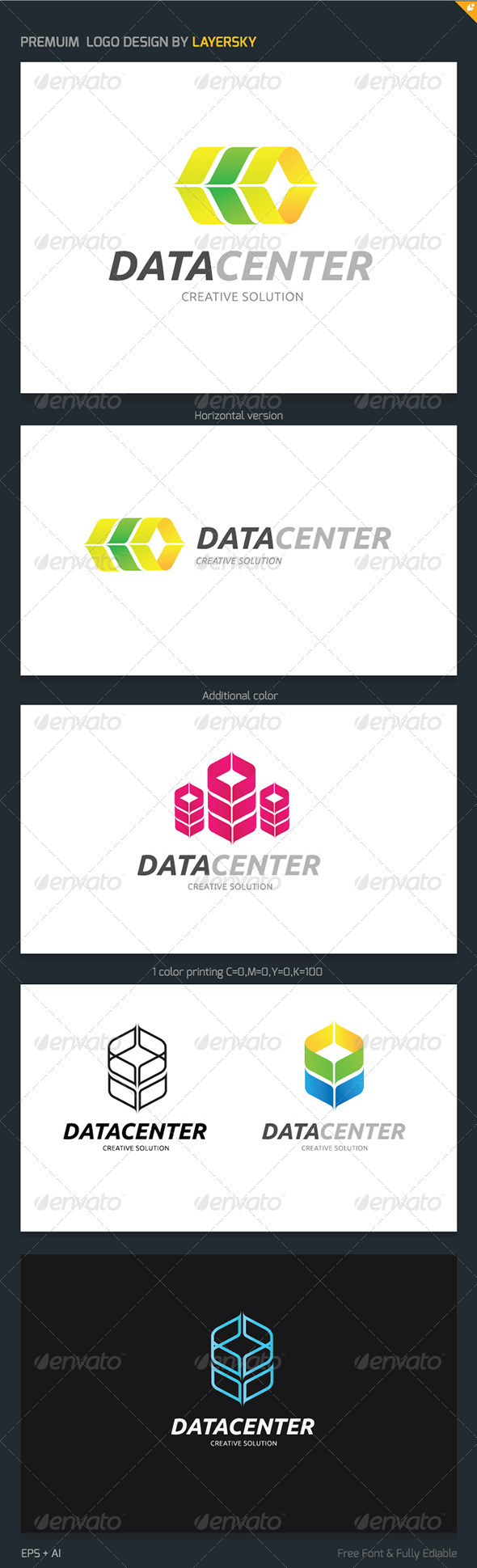 GraphicRiver Data Center Logo 4166203
