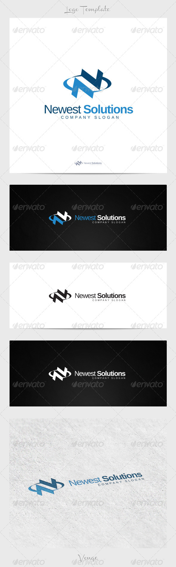 Newest Solutions - Letters Logo Templates