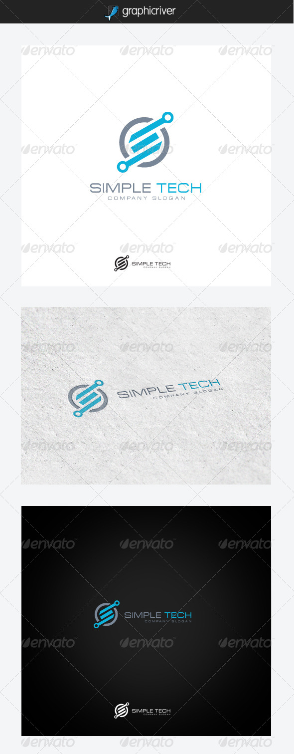 Simple Tech - Symbols Logo Templates