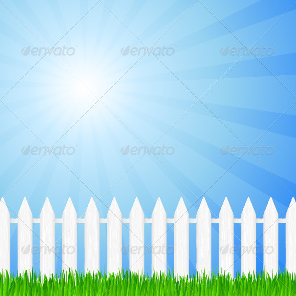 GraphicRiver Wooden Fence and Grass 4267402