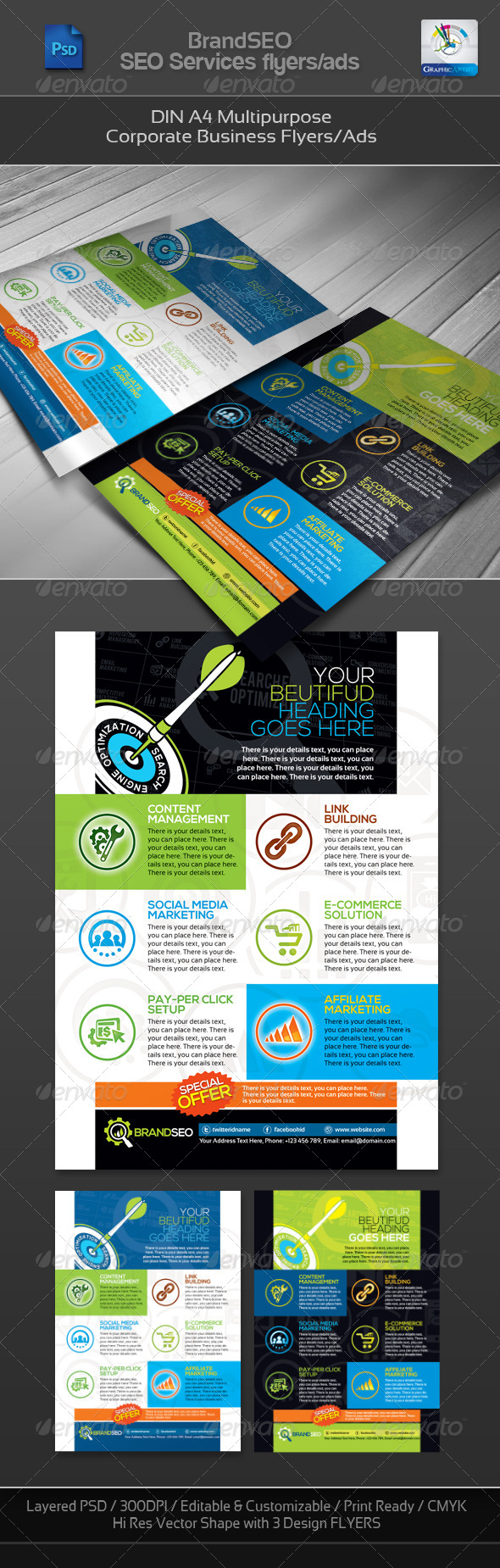 GraphicRiver BrandSEO Corporate SEO Business Flyer Ad 4267406