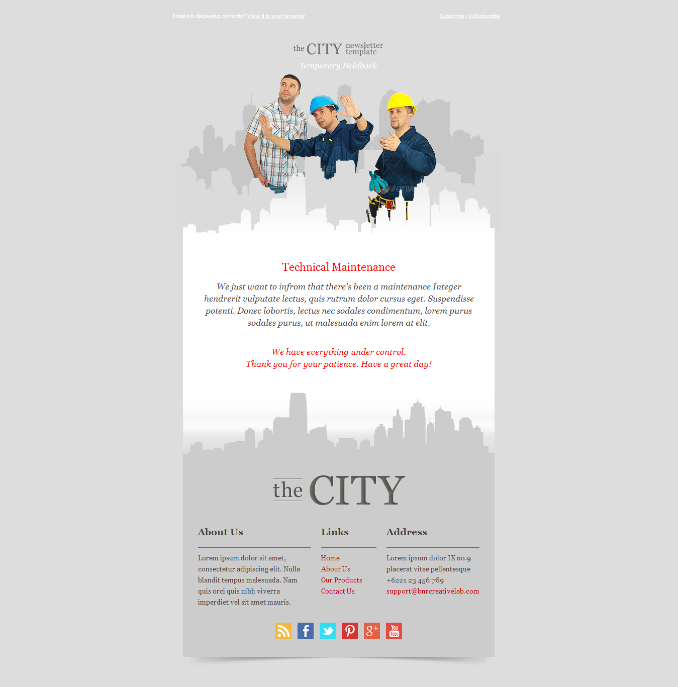 The City - Metro Business Email template
