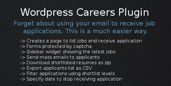 CodeCanyon Wordpress Careers Plugin 4267794