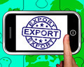 Export On Smartphone Shows International Shipping - PhotoDune Item for Sale