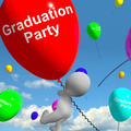 Graduation Balloons Showing School College Or University Graduations - PhotoDune Item for Sale