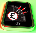 Pound Symbol On Smartphone Shows Kingdom Wealth - PhotoDune Item for Sale