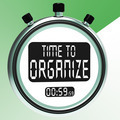 Time To Organize Message Showing Managing Or Organizing - PhotoDune Item for Sale