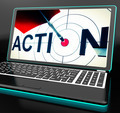 Action On Laptop Shows Motivation - PhotoDune Item for Sale