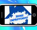 Home Improvement On Smartphone Shows Hiring Contractor - PhotoDune Item for Sale