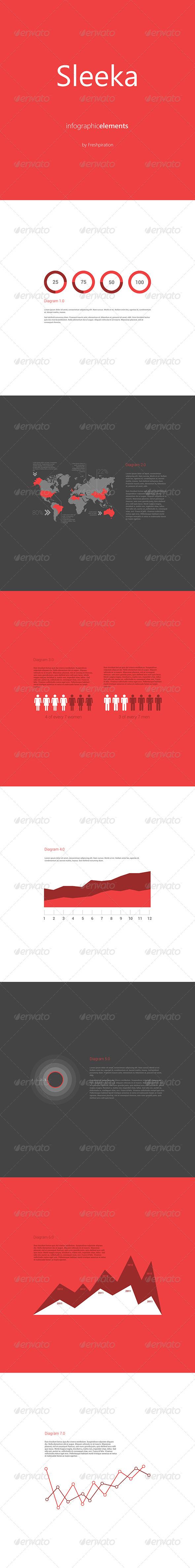 GraphicRiver Sleeka Infographic Elements 4172829