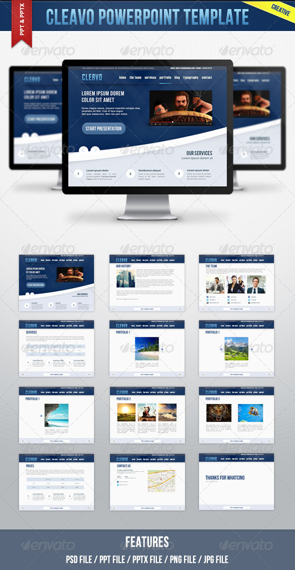 Cleavo Powerpoint Template - Powerpoint Templates Presentation Templates