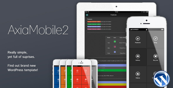 ThemeForest AxiaMobile2 Multipurpose Mobile Template 4236712