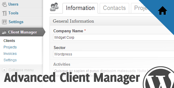 CodeCanyon Advanced Client Manager for WordPress 4271571