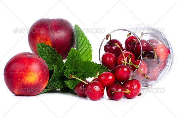 Red fruits set - Stock Photo - Images