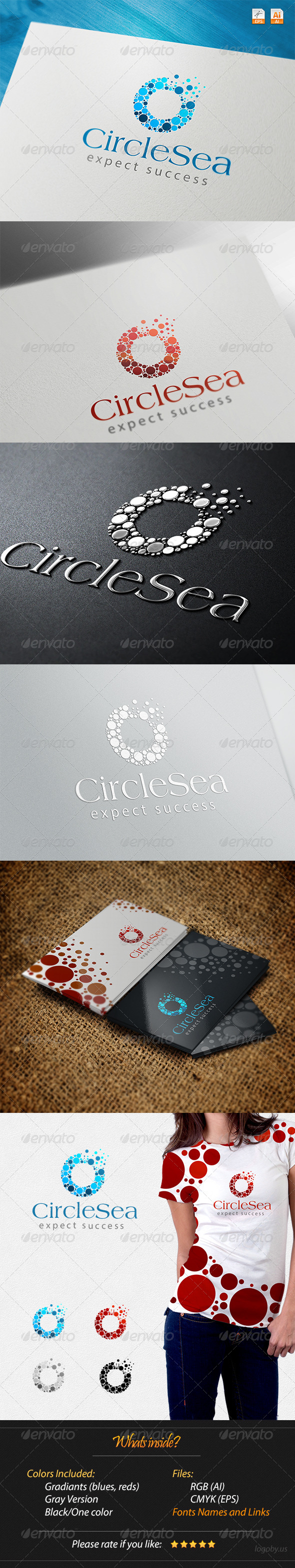 GraphicRiver Circles Sea Expect Success Logo 4271631