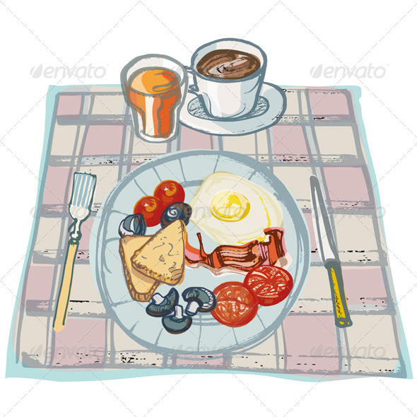 GraphicRiver Breakfast on Table 4271721