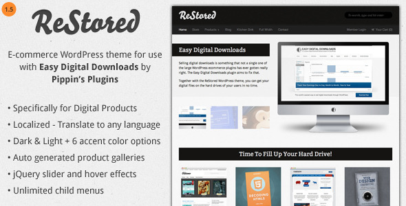 ReStored - WP Ecommerce for Easy Digital Downloads - Miscellaneous eCommerce