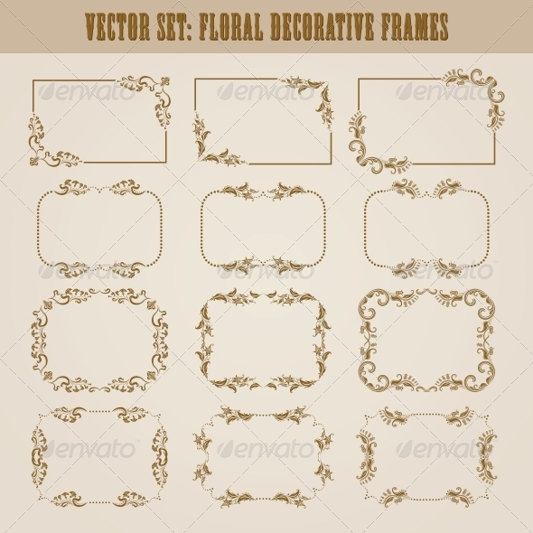 GraphicRiver Decorative Frames 4272134