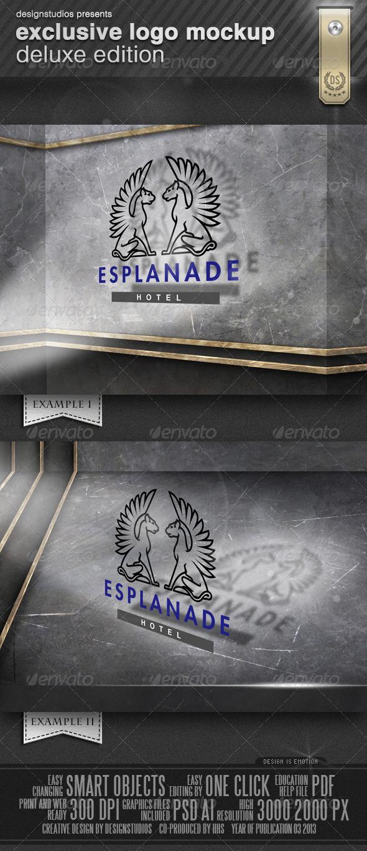 GraphicRiver Exclusive Logo Mockup Deluxe Edition 4272160
