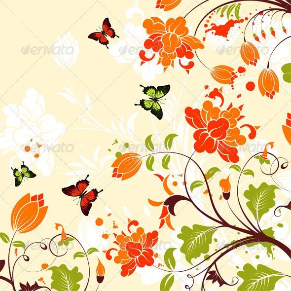 GraphicRiver Flower Frame 4272258