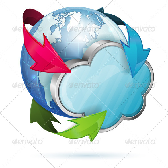 GraphicRiver Global Access and Cloud Computing Concept 4272268