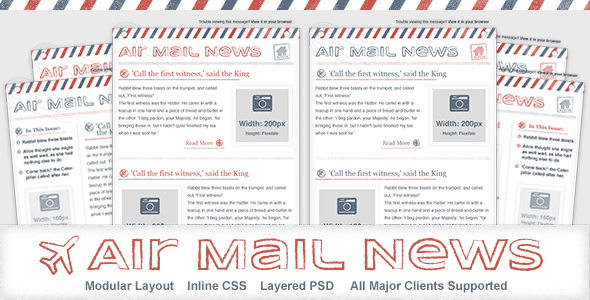 ThemeForest Air Mail News Newsletter Email Template 4272274