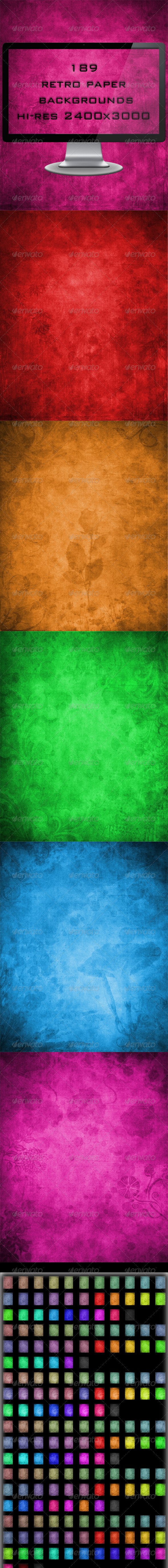 189 Retro Paper Backgrounds Mega Pack - Backgrounds Graphics