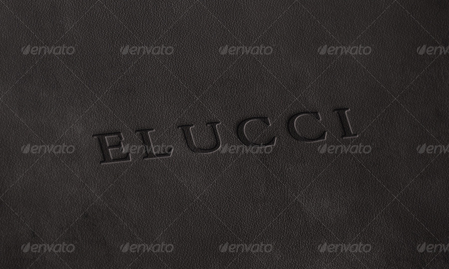 5 Logo Mock Up Pack 5 - Leather