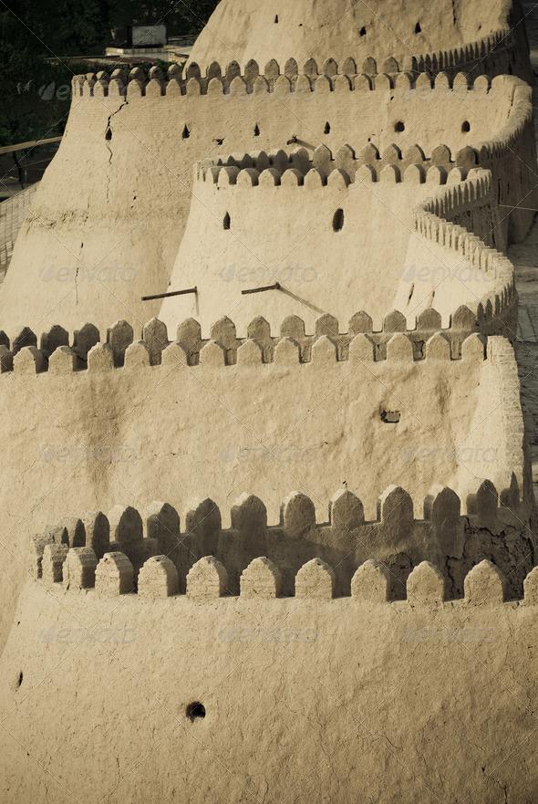 PhotoDune Walls of an ancient city of Khiva Uzbekistan 4273002