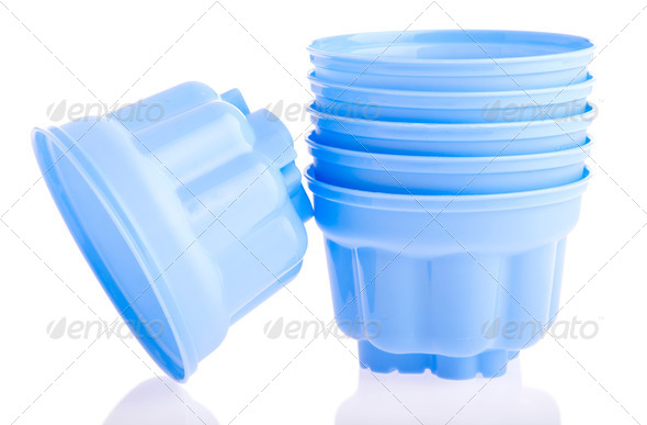 Plastic cups - Stock Photo - Images