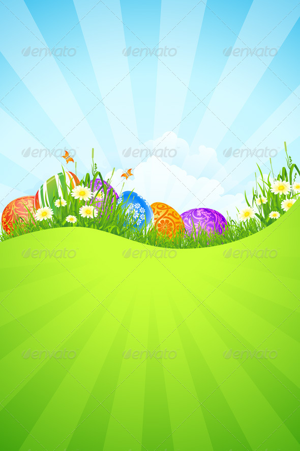 GraphicRiver Beautiful Easter Holiday Background 4274125
