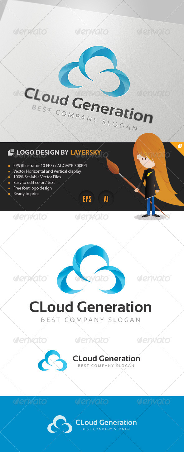 GraphicRiver Cloud Generation Logo 4177553