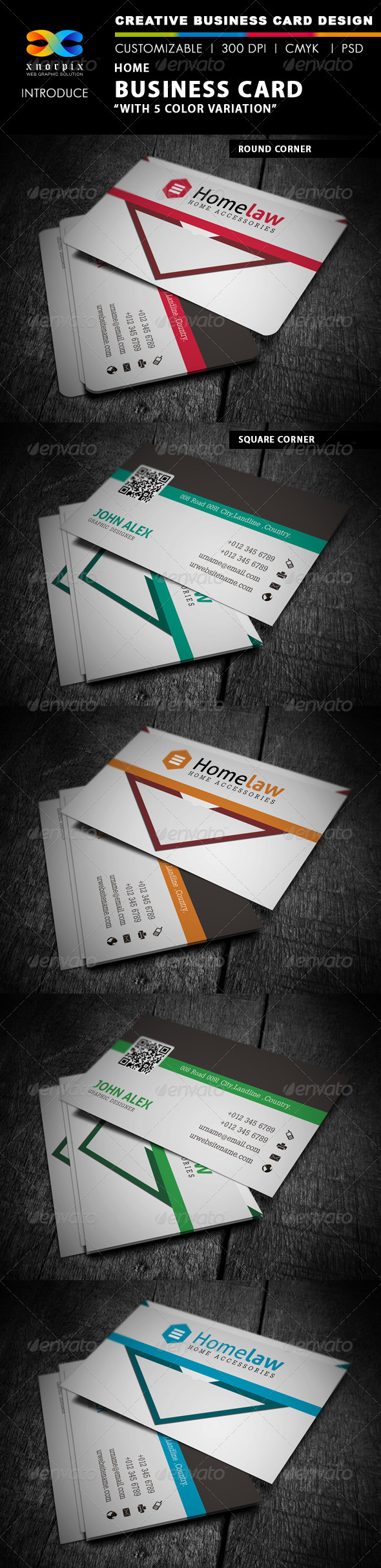 GraphicRiver Home Business Card 4275741