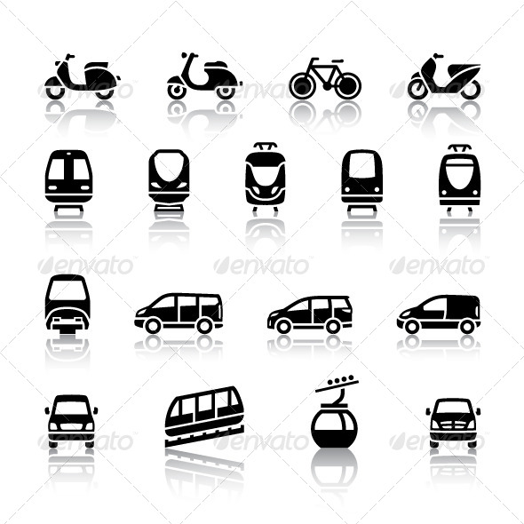 GraphicRiver 16 Transport Icons 4275808
