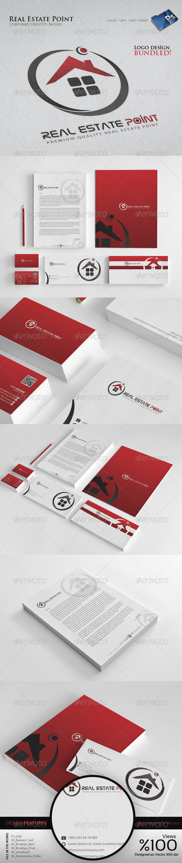 Real Estate Point - Corporate Identity - Stationery Print Templates