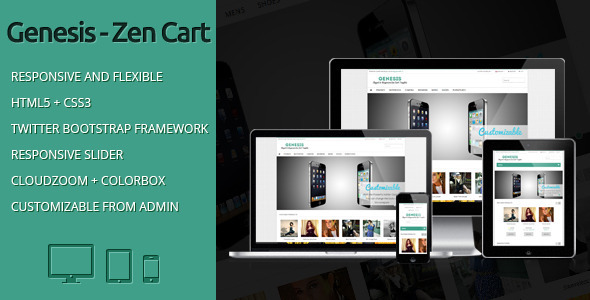 Genesis - Elegant and Responsive Zen Cart Template - Zen Cart eCommerce