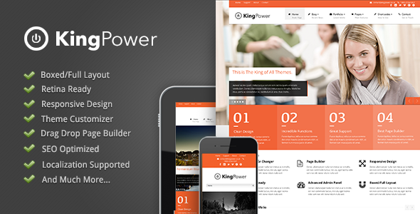 King Power - Retina Ready Multi-Purpose Theme - introduction