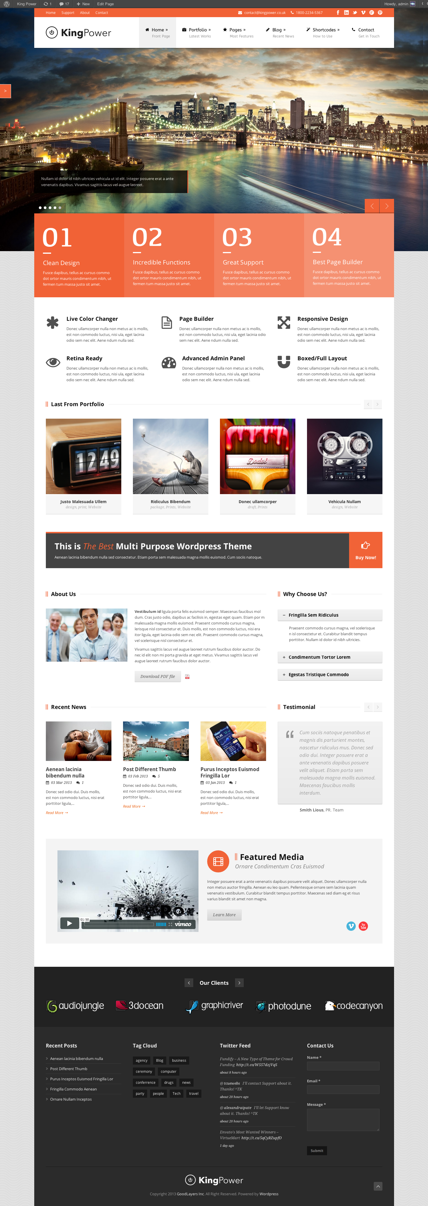 King Power - Retina Ready Multi-Purpose Theme - index page with color changed
