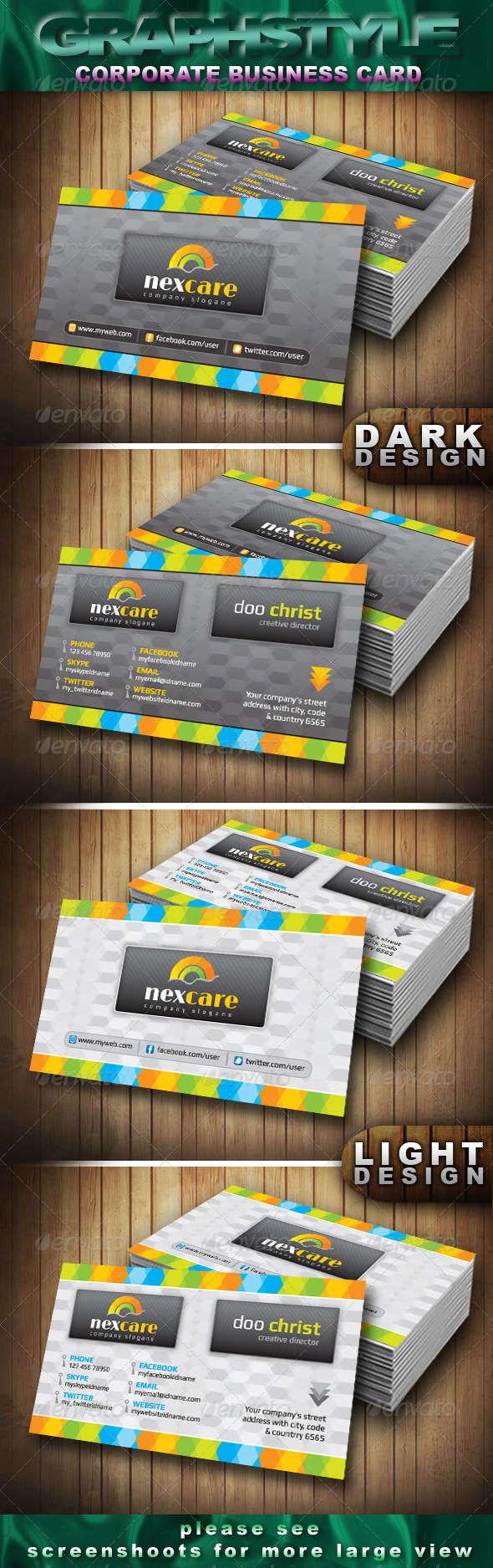 GraphicRiver Nexcare Corporate Business Card 4066865
