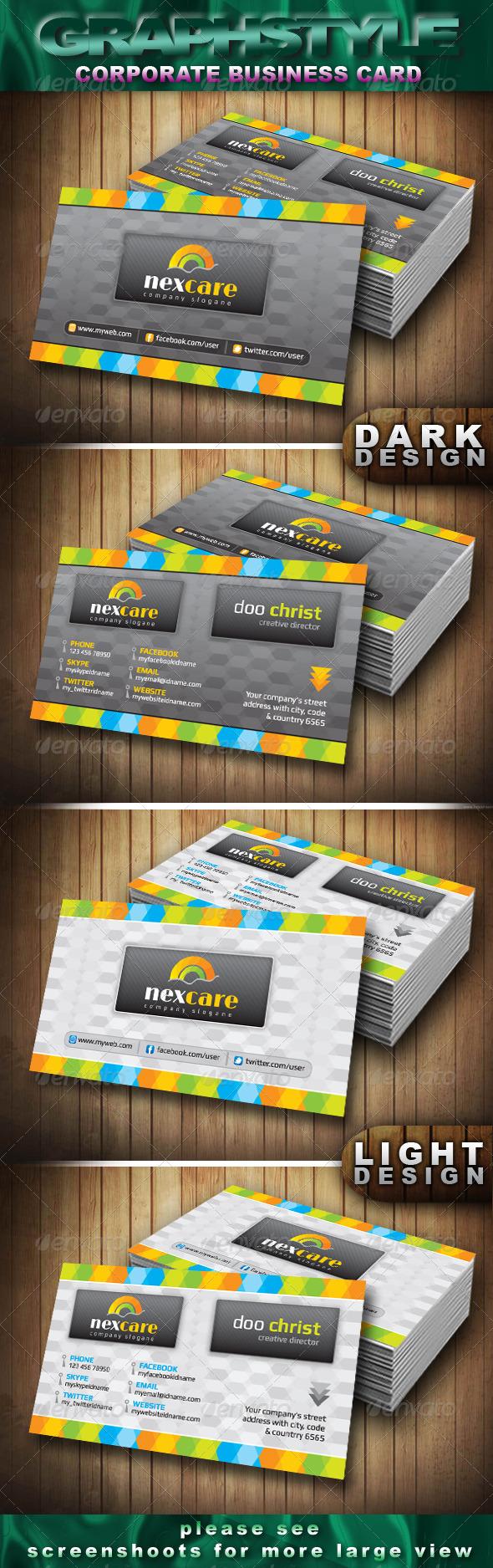 GraphicRiver Nexcare Corporate Business Card 4066865