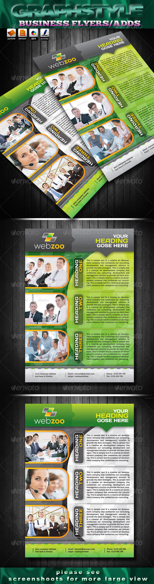 GraphicRiver Webzoo Business Flyers Adds 4277618