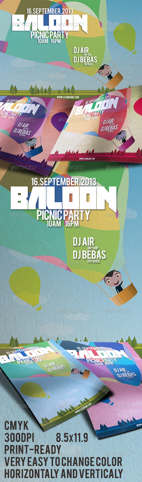 GraphicRiver Baloon Flyer 3998241