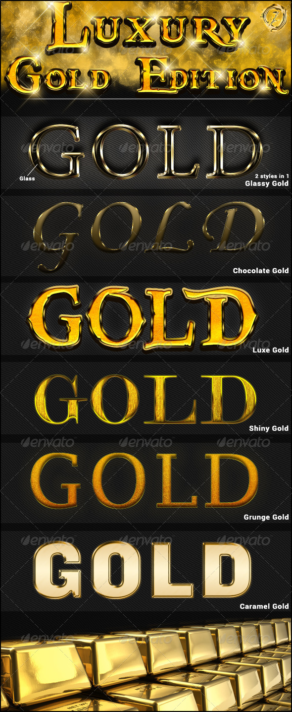 Gold Luxury Styles - Text Effects Actions