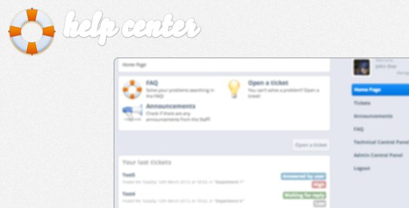 Help Center | FAQ Manager &amp; Ticket System - CodeCanyon Item for Sale
