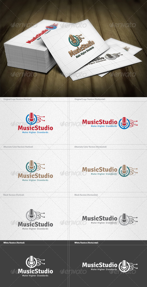 GraphicRiver Music Studio Logo 4279359