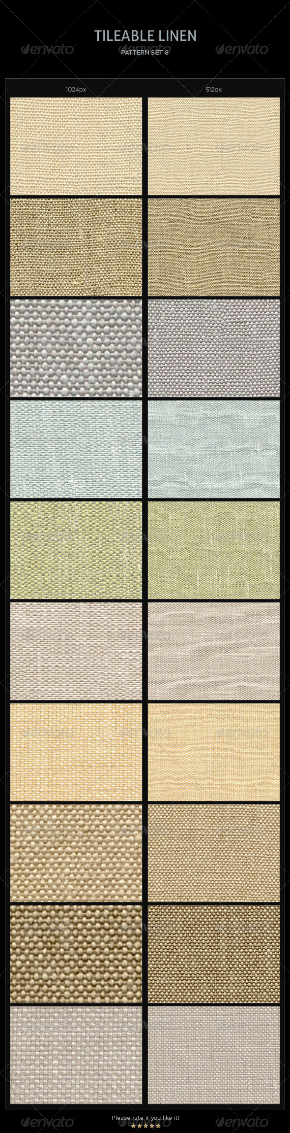 10 Tileable Linen Textures/Patterns - Miscellaneous Textures / Fills / Patterns